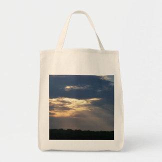 雲を通したライト トートバッグ