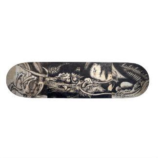 雲龍図、雲、Sumi-eが付いている曾我蕭白のドラゴン 20.6cm スケートボードデッキ