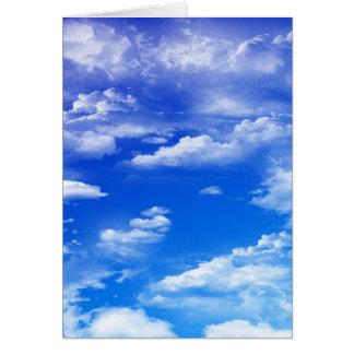 雲(ポートレート) グリーティングカード