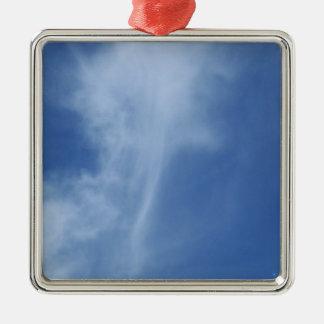 雲: 空の真実の剣 シルバーカラー正方形オーナメント
