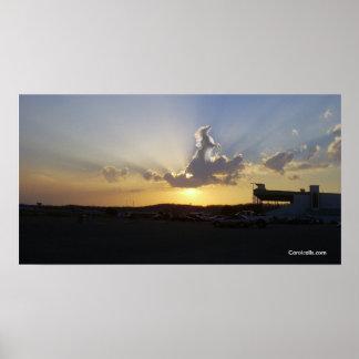 雲、Carolcells.comの馬 ポスター