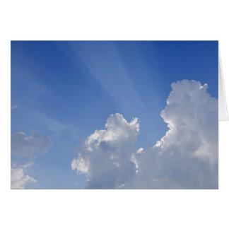 雲、Valのd'Orcia、シエナを通した太陽光線 カード