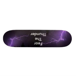 雷を恐れて下さい スケートボードデッキ
