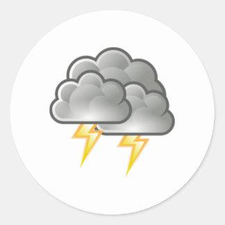 雷雨の稲妻 ラウンドシール