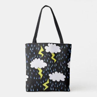雷雨の落雷 トートバッグ