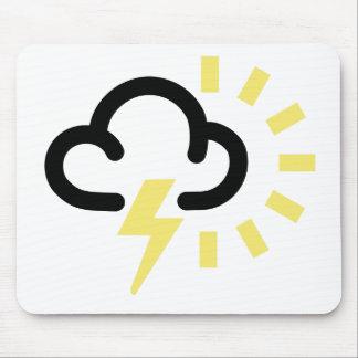 雷雨: レトロの天気予報の記号 マウスパッド
