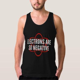 電子はとても否定的です タンクトップ