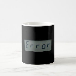 電子エラーメッセージのマグ、ステイン ベーシックホワイトマグカップ