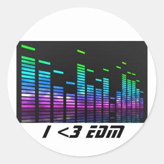 電子ダンス音楽のステッカー ラウンドシール