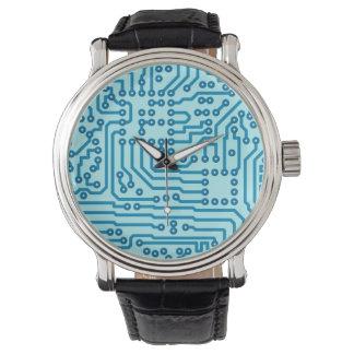 電子デジタル回路板 腕時計