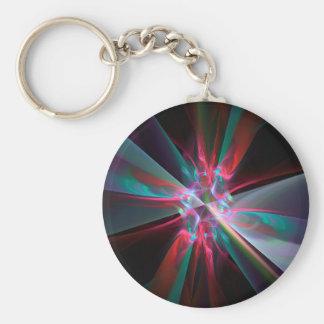 電子プリズム、美しいフラクタル キーホルダー