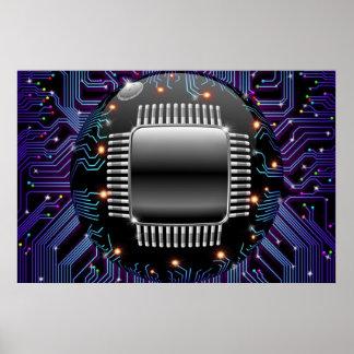 電子マザーボード回路ポスター ポスター