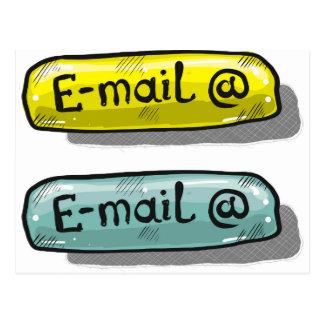 電子メールのスケッチボタンのくもの巣 ポストカード