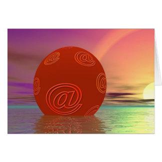 電子メールの地球 カード