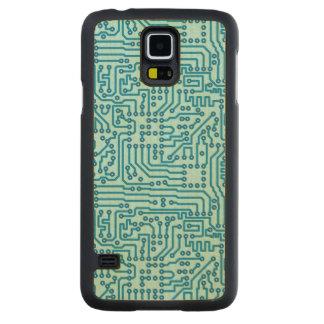 電子回路板 CarvedメープルGalaxy S5スリムケース