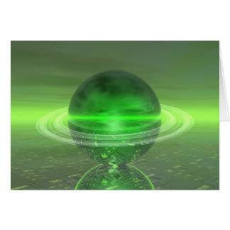 電子緑の土星 カード