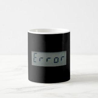 電子 間違い メッセージ マグ、 ステイン コーヒーマグカップ
