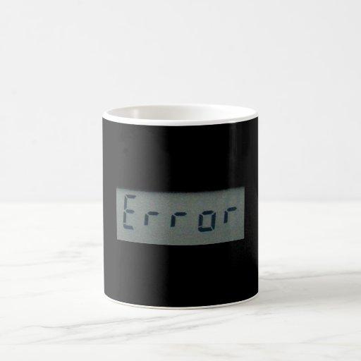 電子|間違い|メッセージ|マグ、|ステイン コーヒーマグカップ