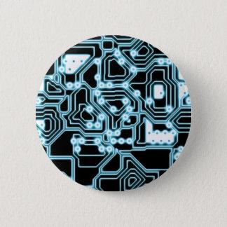 電子-青/黒 缶バッジ