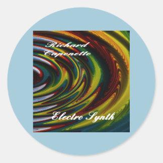 電子Synthのためのアルバムカバー ラウンドシール