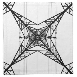 電気のパイロンのナプキン ナプキンクロス