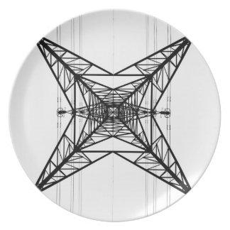 電気のパイロンのプレート プレート