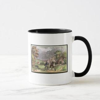 電気のフランクリンの実験 マグカップ