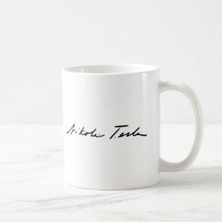 電気の天才ニコラ・テスラの署名 コーヒーマグカップ