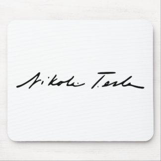 電気の天才ニコラ・テスラの署名 マウスパッド