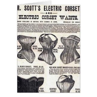 電気コルセット カード