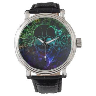 電気スカル 腕時計