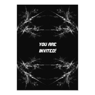 電気傷。 黒く、白いフラクタルArt. カード