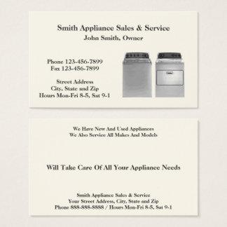 電気器具の販売および修理サービスの名刺 名刺