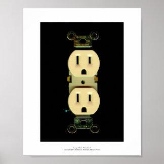 電気建築業者の出口の電気技師ビジネス ポスター