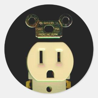 電気建築業者の出口の電気技師ビジネス ラウンドシール