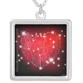 電気愛ネックレス シルバープレートネックレス