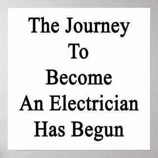 電気技師に似合う旅行は始まりました ポスター