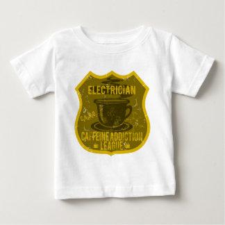 電気技師のカフェインの常習リーグ ベビーTシャツ