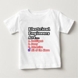 電気技師のクイズの…冗談 ベビーTシャツ