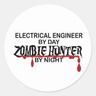 電気技師のゾンビのハンター ラウンドシール