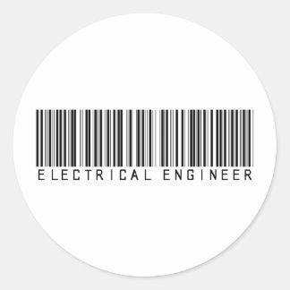 電気技師のバーコード ラウンドシール