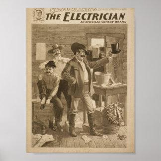 電気技師のヴィンテージの劇場 ポスター