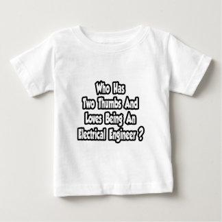 電気技師の冗談… 2本の親指 ベビーTシャツ