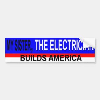 電気技師の姉妹 バンパーステッカー