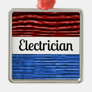 電気技師の愛国心が強いクリスマスのオーナメント メタルオーナメント