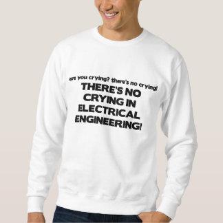 電気技師の泣き叫び無し スウェットシャツ