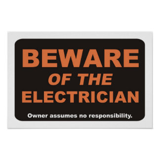 電気技師の用心して下さい ポスター