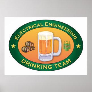 電気技師の飲むチーム ポスター