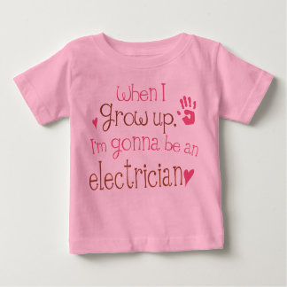 電気技師(未来)の幼児ベビーのTシャツ ベビーTシャツ