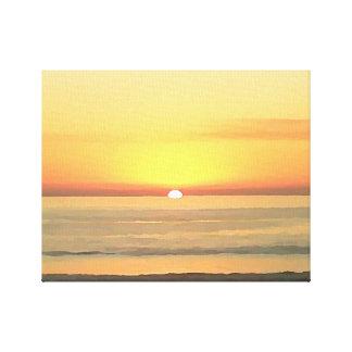 電気石のビーチの近くの日没 キャンバスプリント